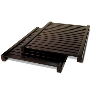 John Louis Woodcrest Espresso Finish Adjustable 16-Inch Shelf Kit (Pack of 2)