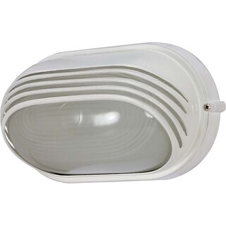 Nuvo Energy Saver 1-light Semi Gloss white Oval Hood Bulk Head