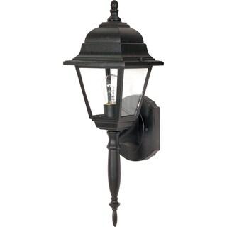 Nuvo Briton 1-light Textured Black Wall Lantern