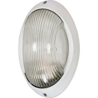Nuvo Energy Saver 1-light Semi Gloss white Large Oval Bulk Head