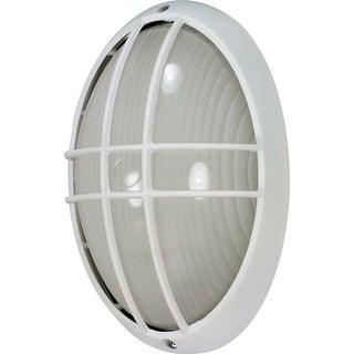 Nuvo Energy Saver 1-light Semi Gloss white Large Oval Cage Bulk Head