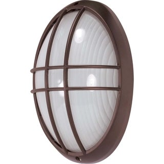 Nuvo Energy Saver 1-light Architectural Bronze Large Oval Cage Bulk Head