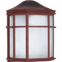 Nuvo Energy Saver 1-light Old Bronze Cage Lantern Wall Fixture