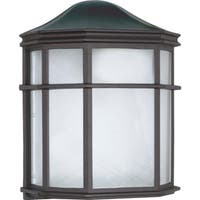 Nuvo Energy Saver 1-light Textured Black Cage Lantern Wall Fixture