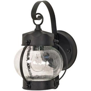 Nuvo 1 Light Textured Black Onion Wall Lantern