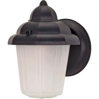 Nuvo 1-light Textured Black Hood Wall Lantern
