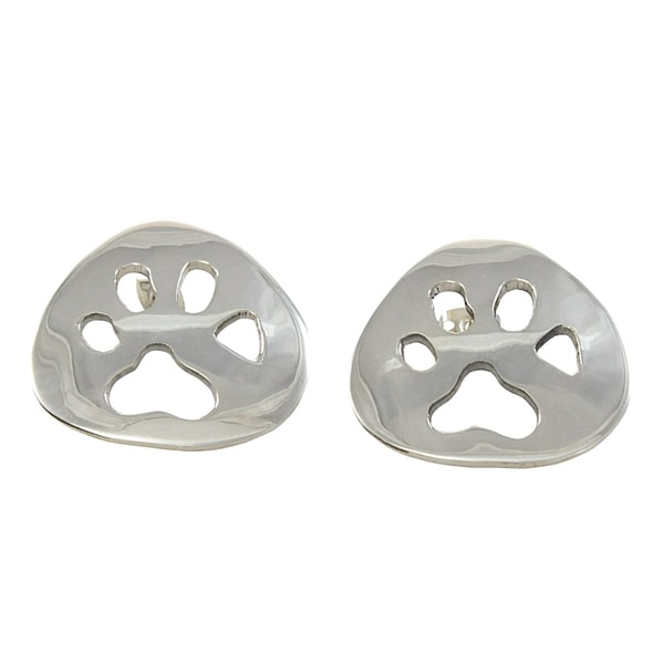 Sterling Silver Paw Print Earrings (Mexico)