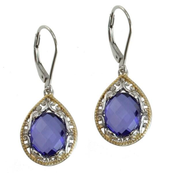 Michael Valitutti Two-tone Purple Quartz Earrings
