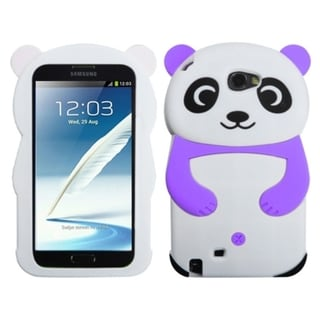 INSTEN White Panda Purple Hands Case Cover for Samsung Galaxy Note II