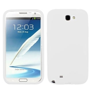 INSTEN White Solid Skin Phone Case Cover for Samsung Galaxy Note II T889/ I605