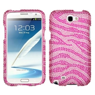 INSTEN Zebra Pink Diamante Protector Case Cover for Samsung Galaxy Note II