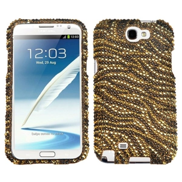 INSTEN Camel/ Brown Diamante Protector Phone Case Cover for Samsung Galaxy Note II