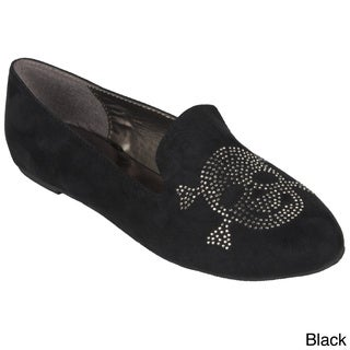 Hailey Jeans Co. Women's 'Messina-14' Round Toe Stud Accent Flats