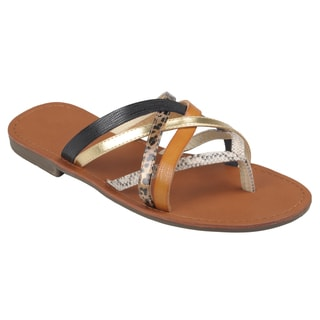 Journee Collection Women's 'Cable-21' Strappy Thong Sandals