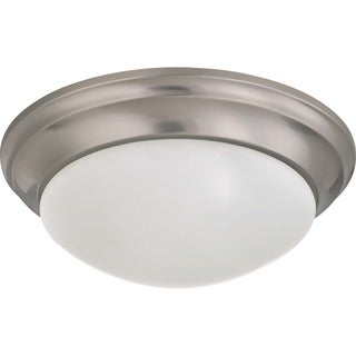 Modern Nuvo Interior Home 2-Light Brushed Nickel Flush Mount Fixture