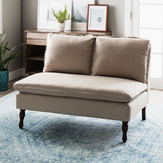 Toulouse Beige French Seam Loveseat