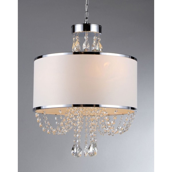 'Hera' Shaded Crystal-detailed 4-light Chandelier