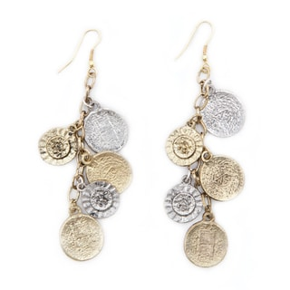 Handmade Coin and Flower Charm Earrings (India)