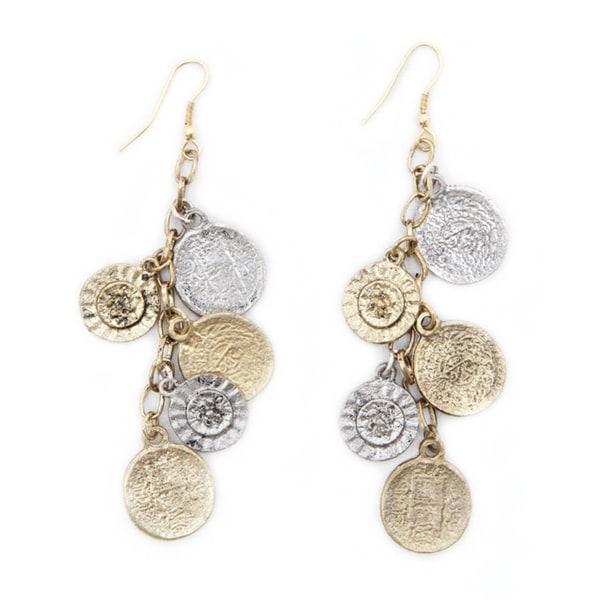Handmade Coin and Flower Charm Earrings (India)