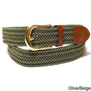 Men's Twin Color Woven Stretch Belt (More options available)