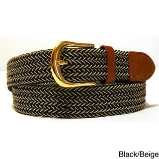Men's Twin Color Woven Stretch Belt