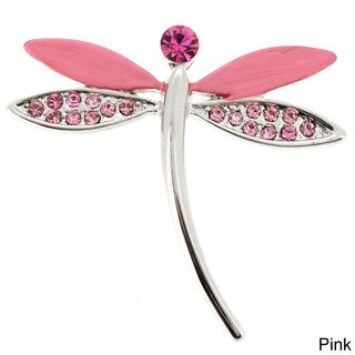 Dragonfly Tag Austrian Crystal Pin Brooch