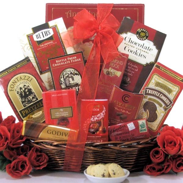 Great Arrivals Sweet Romance Anniversary Gift Basket
