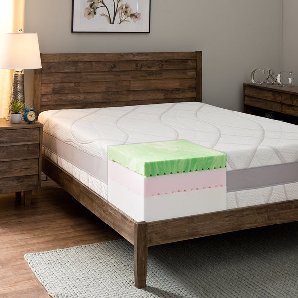Comfort Dreams 13-inch California King-size Gel Memory Foam Mattress with Thermo-Gel Cover