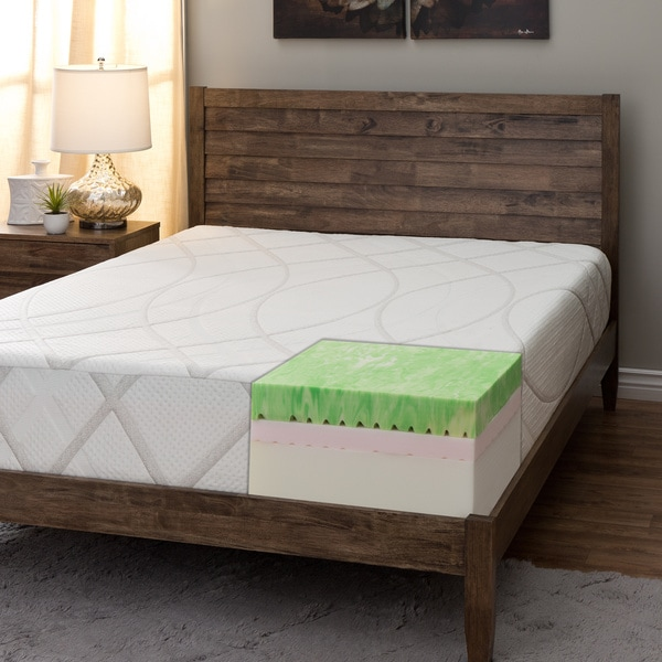 Comfort Dreams 11-inch Queen-size Gel Memory Foam Mattress with Thermo-Gel Cover