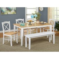 Simple Living Tiffany 6-piece Dining Set with Dining Bench
