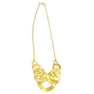 Handmade Goldplated Ring Link Necklace (India)