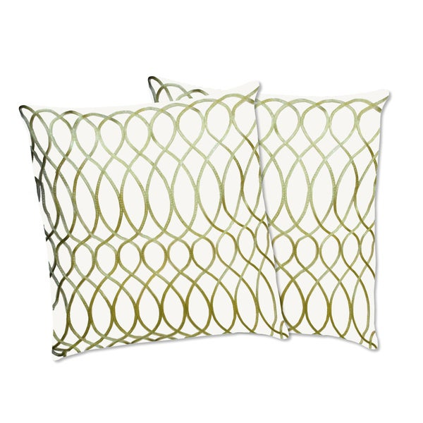 Lush Decor Ginna Apple Green Decorative Pillows (Set of 2)