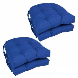 Blazing Needles 16-inch U-shaped Dining Chair Cushions (Set of 4)