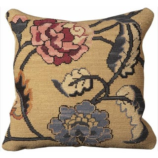 Mina Victory Nourmak Beige Throw Pillow (20-inch x 20-inch) by Nourison