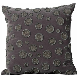 Mina Victory Luminescence Charcoal Throw Pillowby Nourison (20-Inch X 20-Inch)