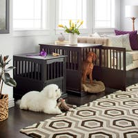 Wooden Pet Crate End Table with Lockable Door