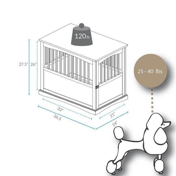 Wooden Pet Crate End Table with Lockable Door