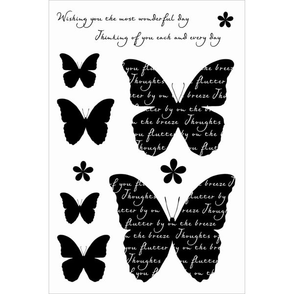 "Woodware Clear Stamps 4""X6"" Sheet-Butterfly Medley"