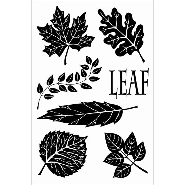 "Woodware Clear Stamps 4""X6"" Sheet-English Leaves"