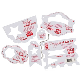 Hot Off The Press Stencil Template-Tool Kit #4