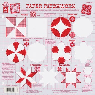 Hot Off The Press Stencil Template-Paper Patchwork