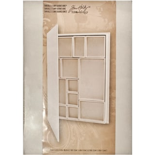 "Tim Holtz Idea-Ology Configurations Chipboard Shadowbox Book 9""X12""-12 Compartments"