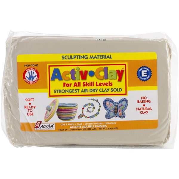 Activ-Clay Self Hardening 3.3 Pounds-White