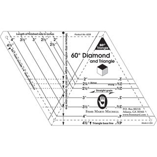 60-degree Diamond and Triangle One-Derful One-Patch Templates