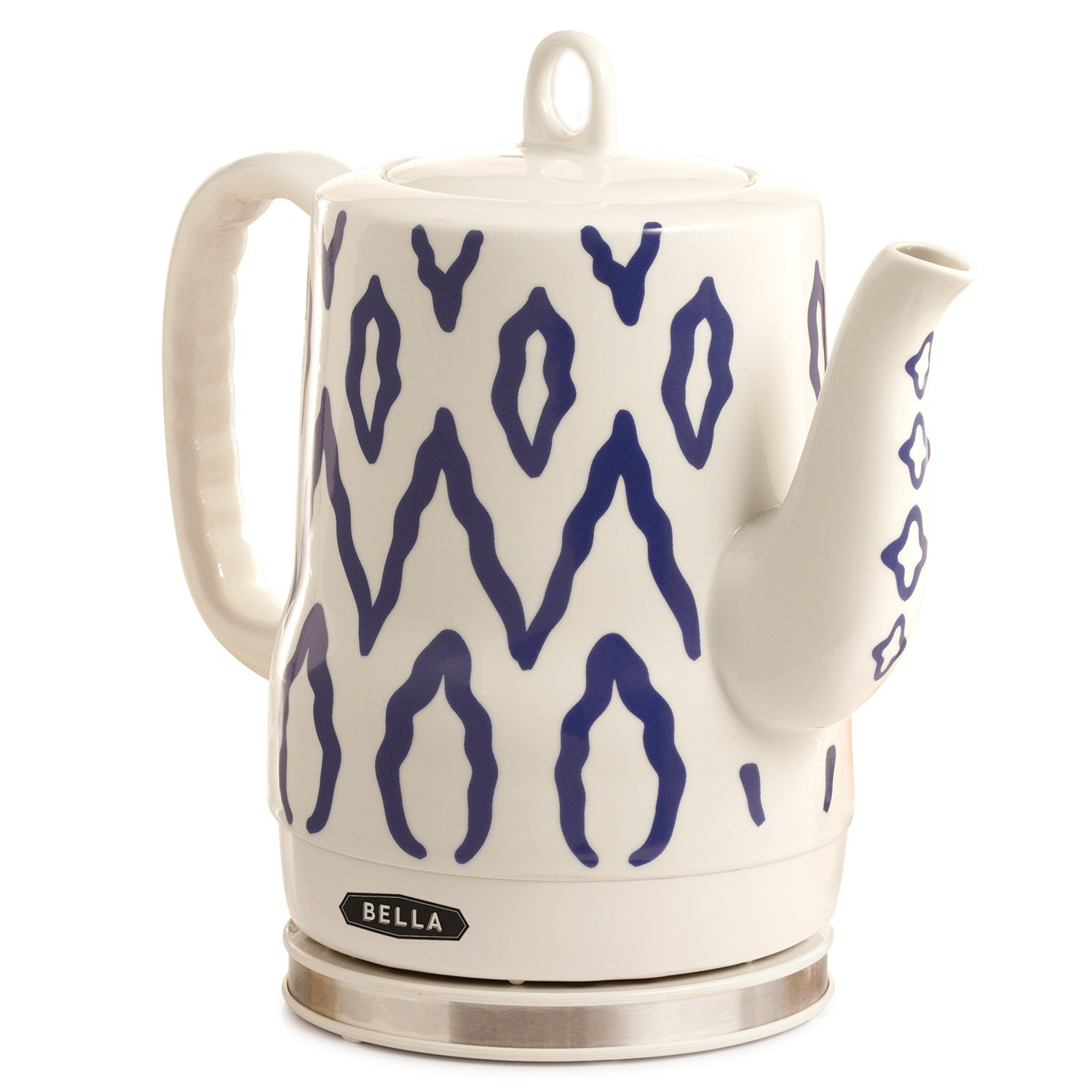 Bella Blue Aztec Ceramic Kettle