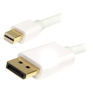 4XEM 6Ft Mini DisplayPort To DisplayPort M/M Adapter Cable (White)