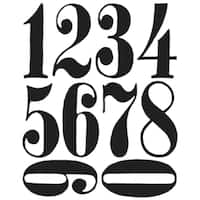 Tim Holtz Cling Rubber Stamp Set-Numeric