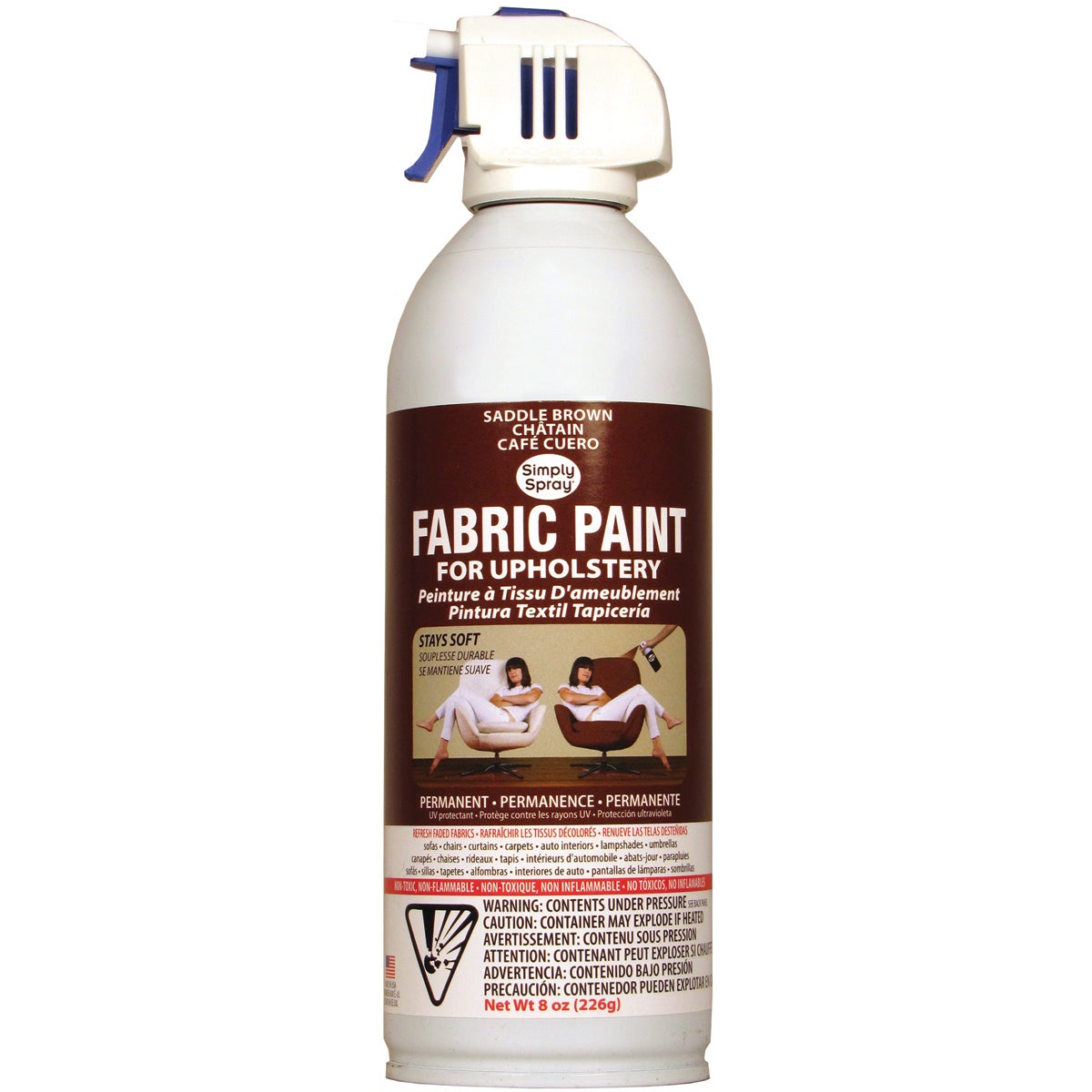 Deval Products Upholstery Spray Fabric Paint 8 Ounces-Sad...