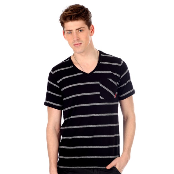 Casual 191 Unlimited Men's Striped V-neck T-shirt