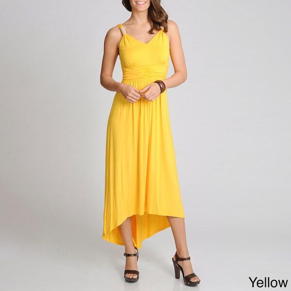 Lennie for Nina Leonard Women's Beaded Strap Maxi Dress